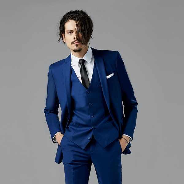 Bright Blue Notch Lapel Suit