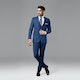 Mystic Blue Peak Lapel Suit