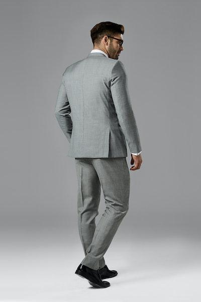 Gray Sharkskin Notch Lapel Suit