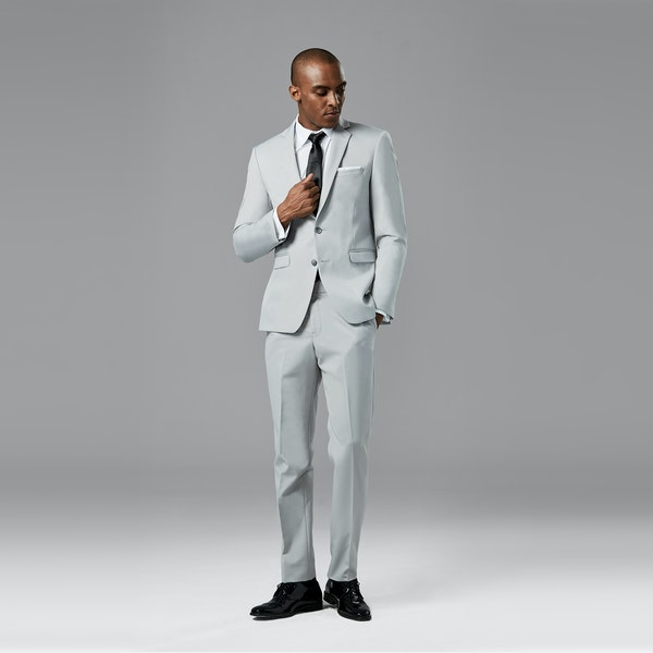 Cement Gray Notch Lapel Suit