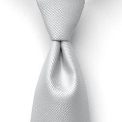 Silver Solid Pre-Tied Tie