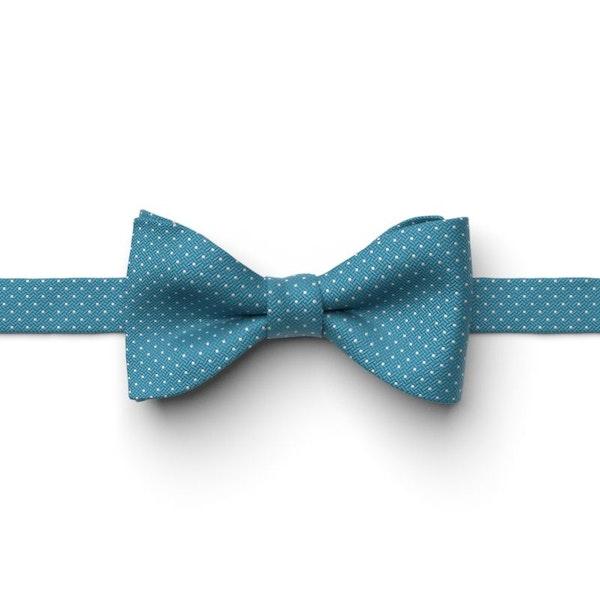 Aqua Marine Pin Dot Pre-Tied Bow Tie