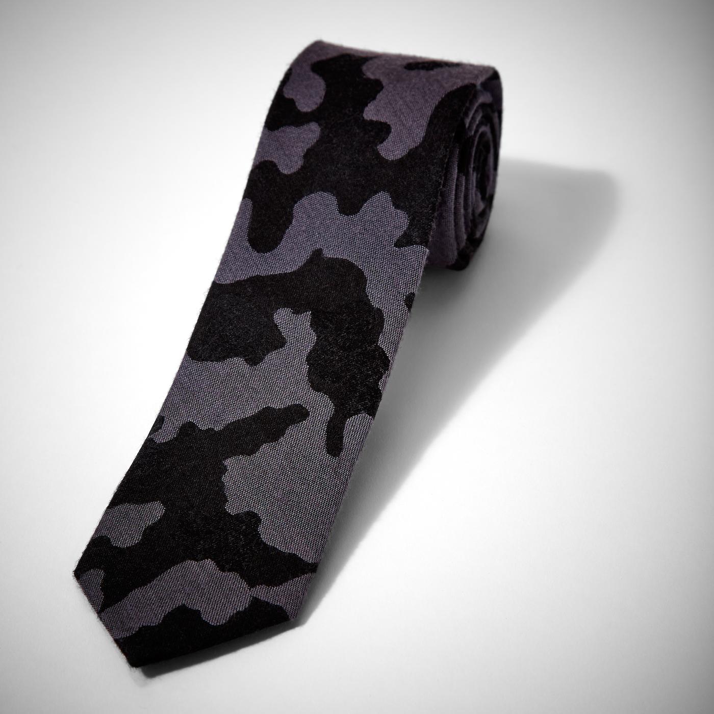 Gray Camo Tie