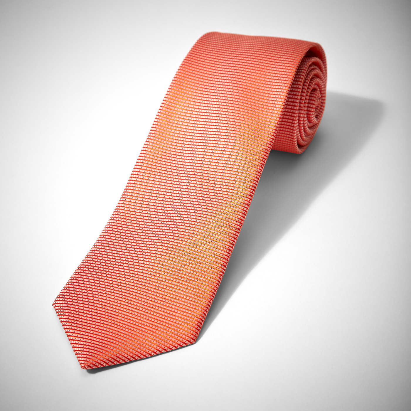 Iridescent Orange Dobby Tie