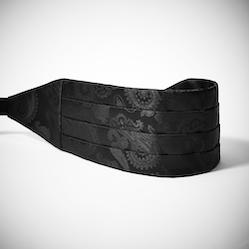 Black Paisley Cummerbund