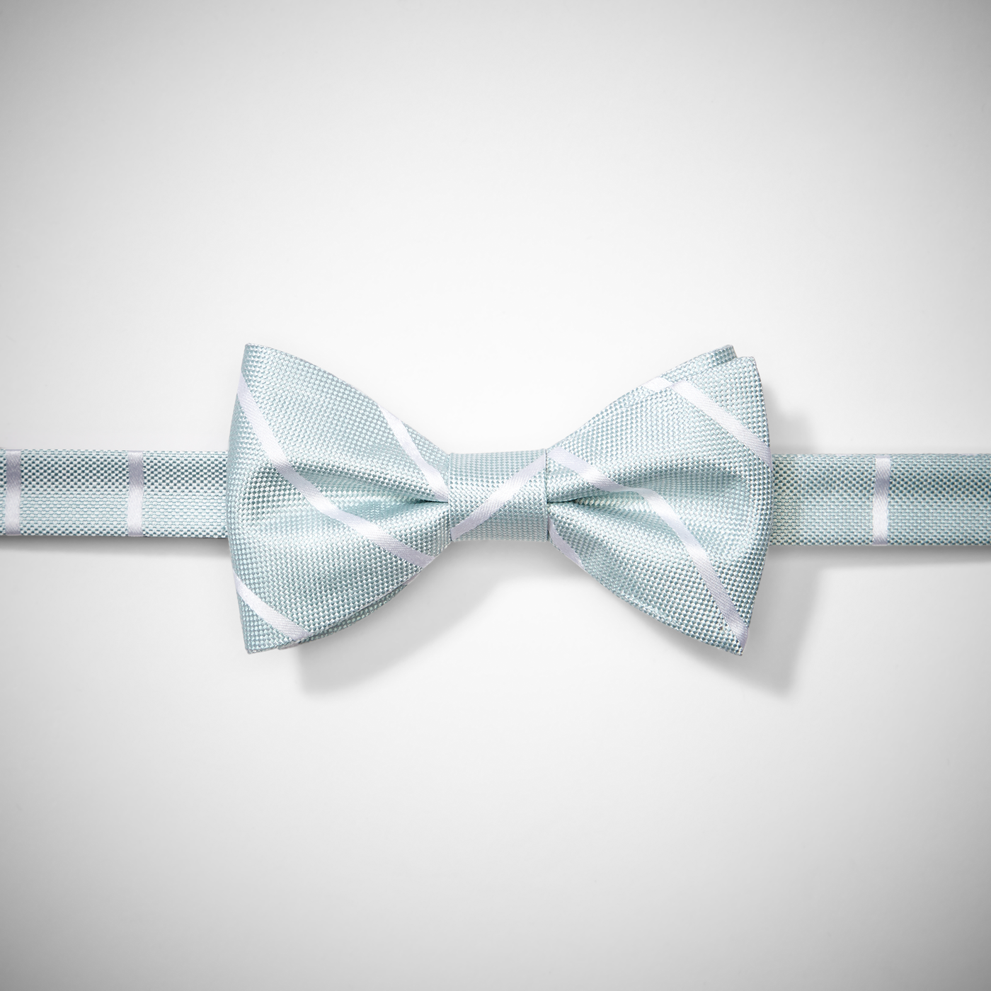Mint Thin Stripe Pre-Tied Bow Tie