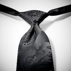 Black Paisley Pre-Tied Tie