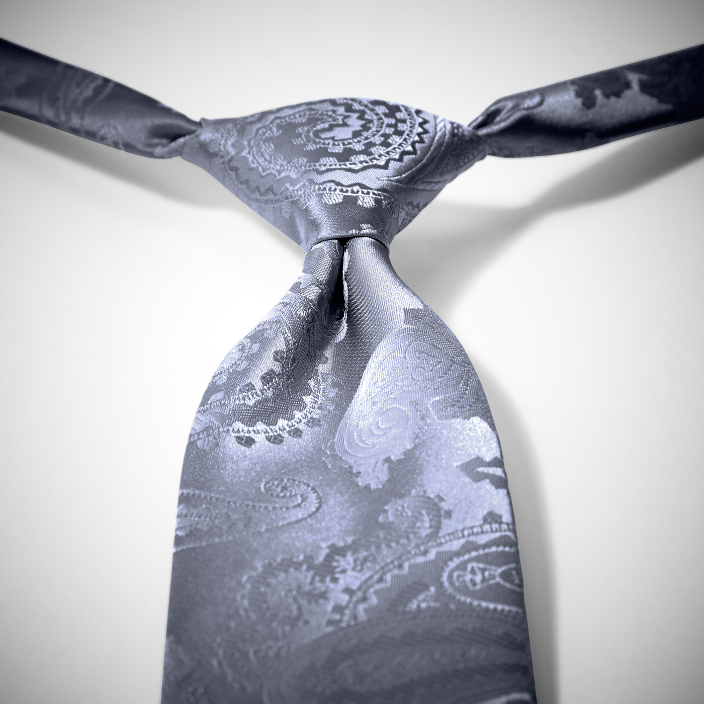 Charcoal Paisley Pre-Tied Tie