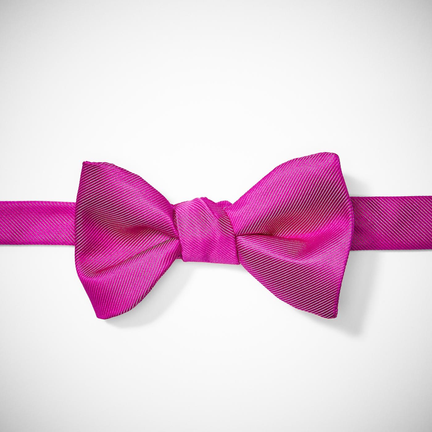 Bright Pink Pre-Tied Bow Tie