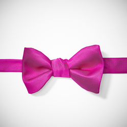 Bright Pink-Begonia Pre-Tied Bow Tie