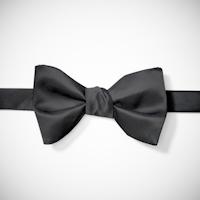 Black Pre-Tied Bow Tie