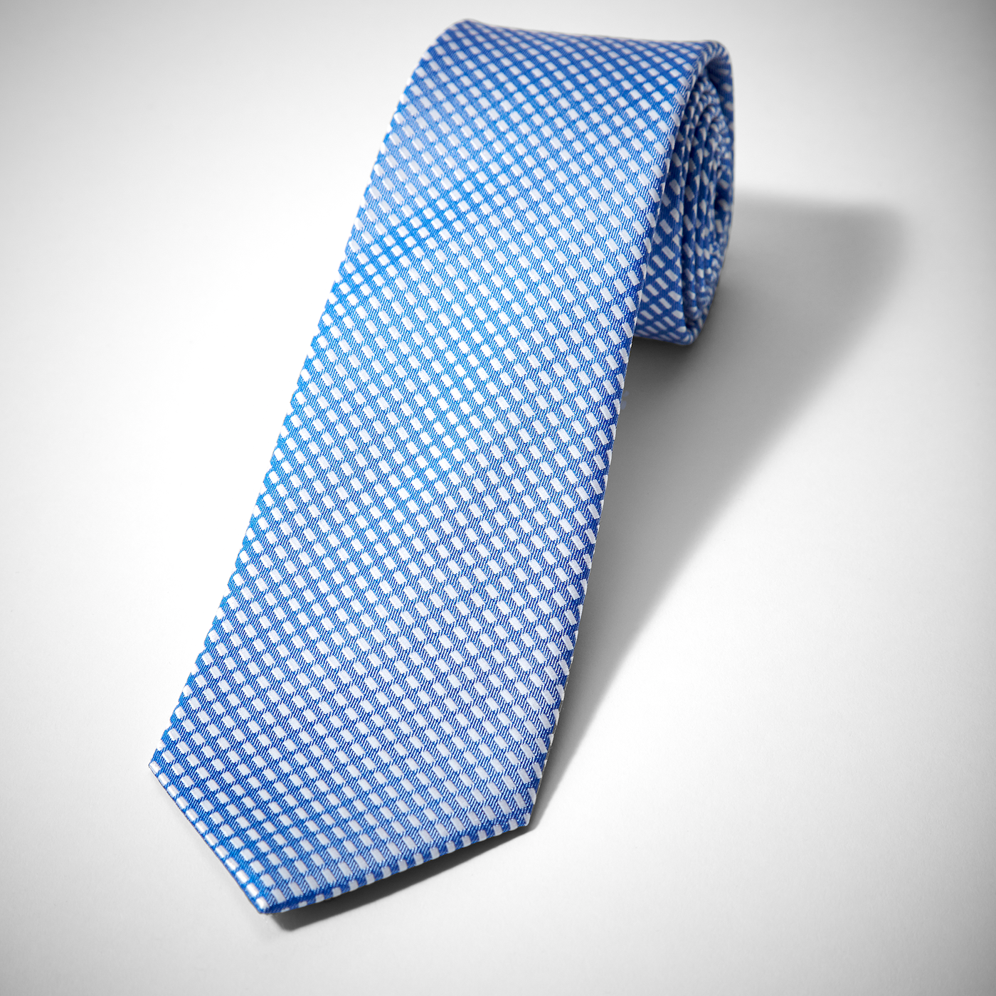 Royal Blue Diagonal Dobby Tie