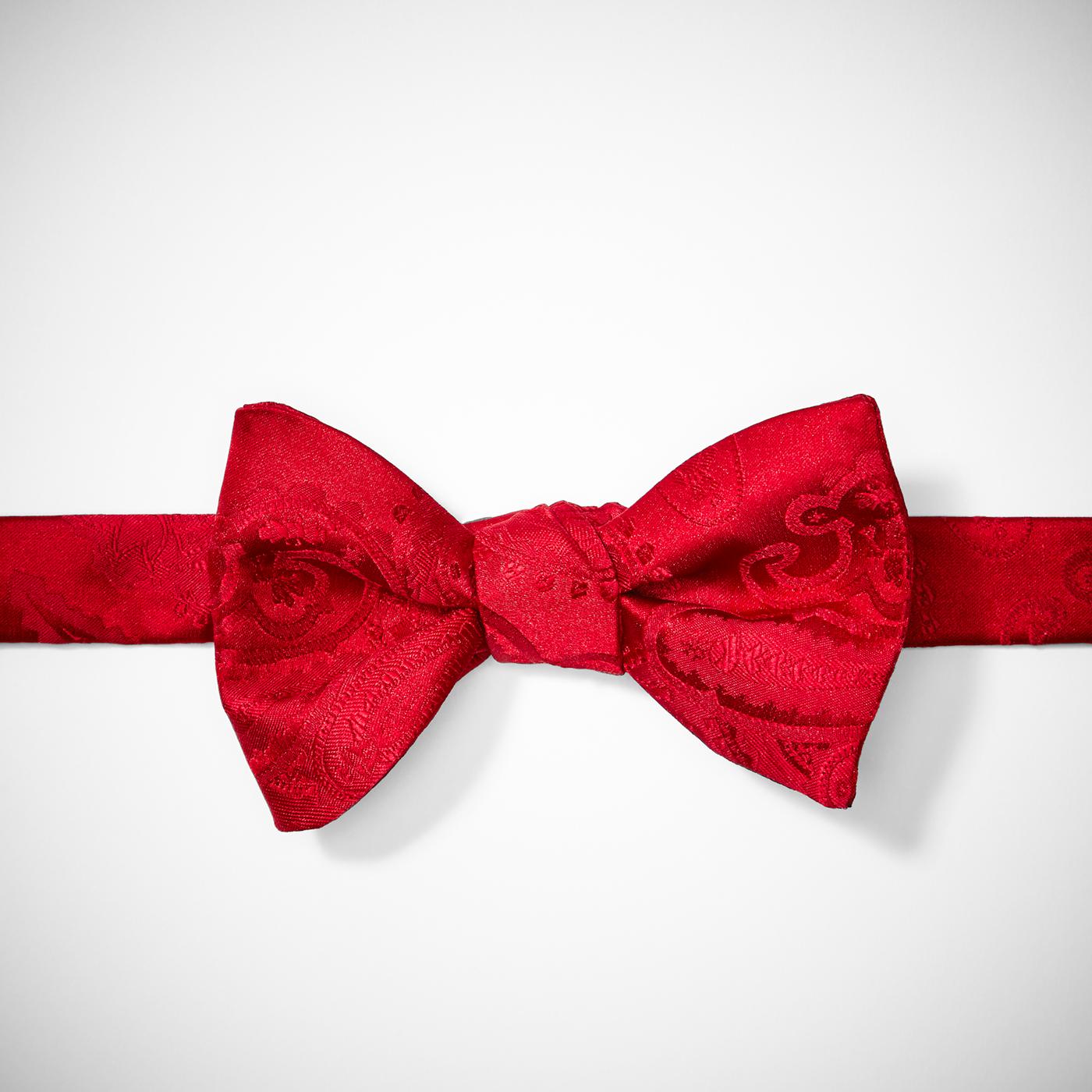 Ruby Valentina Paisley Pre-Tied Bow Tie