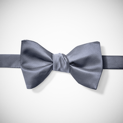 Pewter-Charcoal Pre-Tied Bow Tie