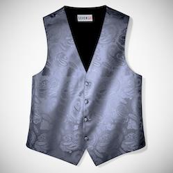 Charcoal Paisley Vest