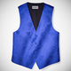 Royal Blue Paisley Vest