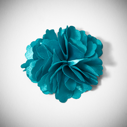 Aqua Carnation Lapel Pin