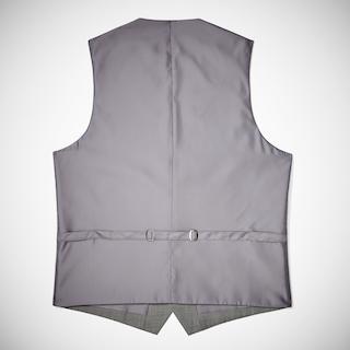 Gray Sharkskin Tailored Suit Vest