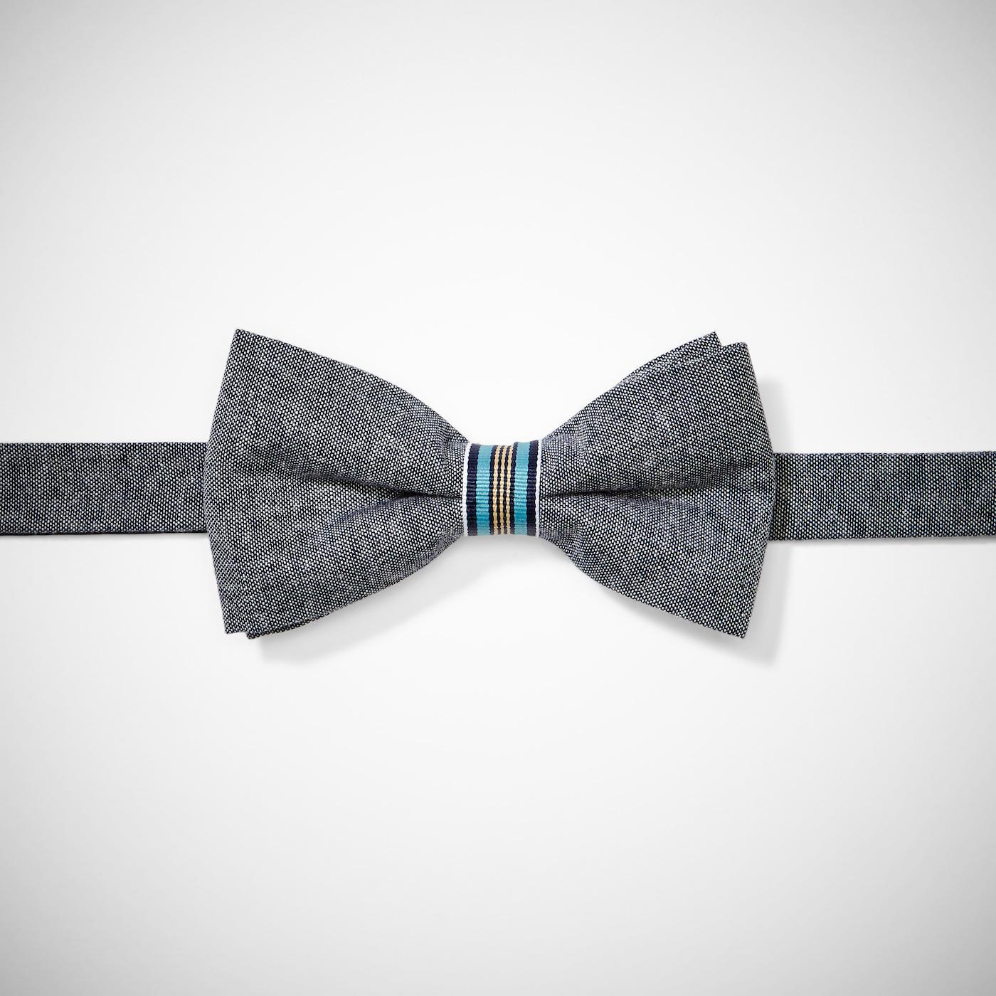 Gray Chambray Bow Tie