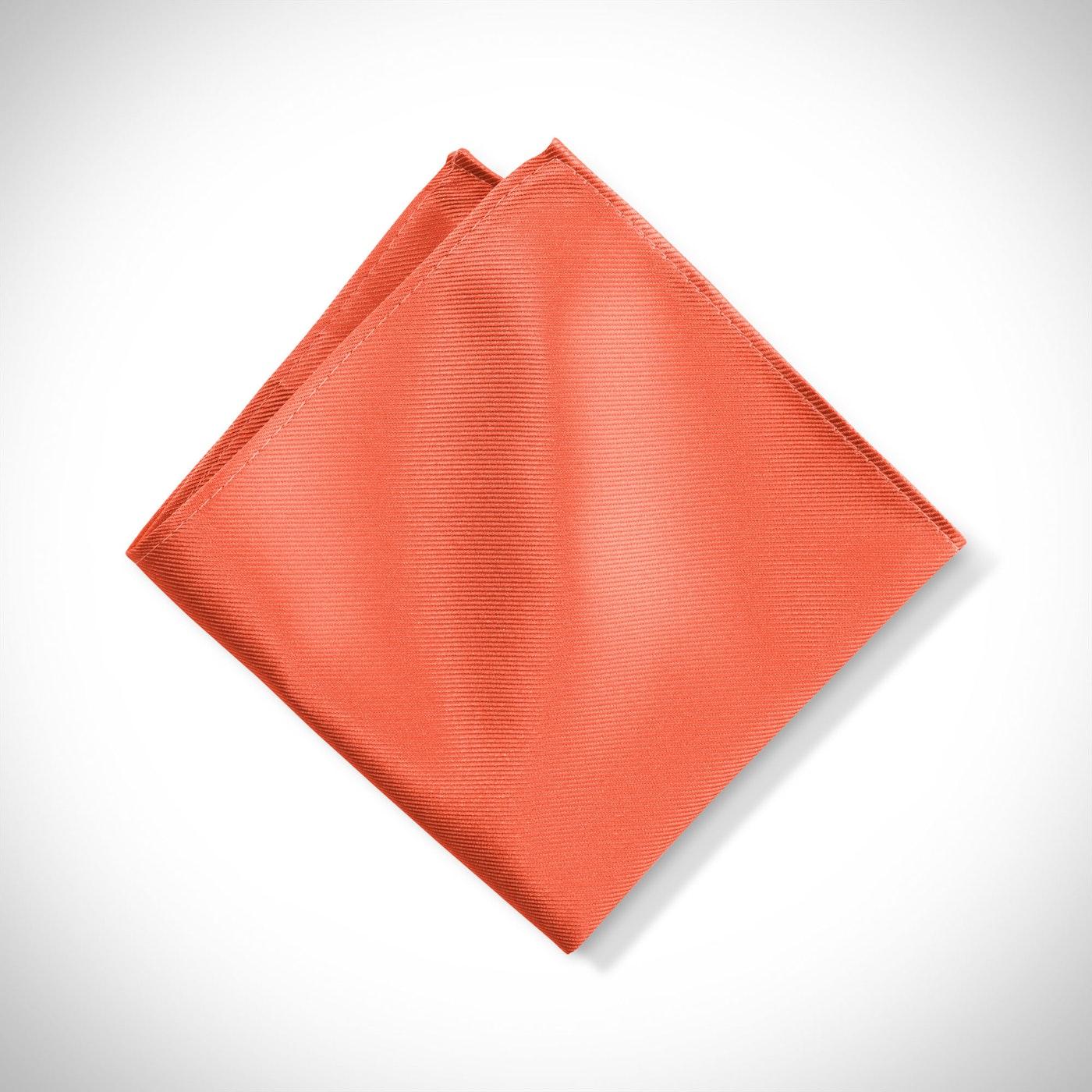 Dark Orange Pocket Square