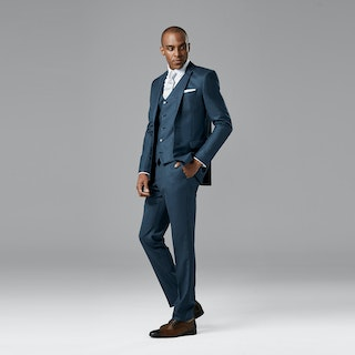 Slate Blue Notch Lapel Suit