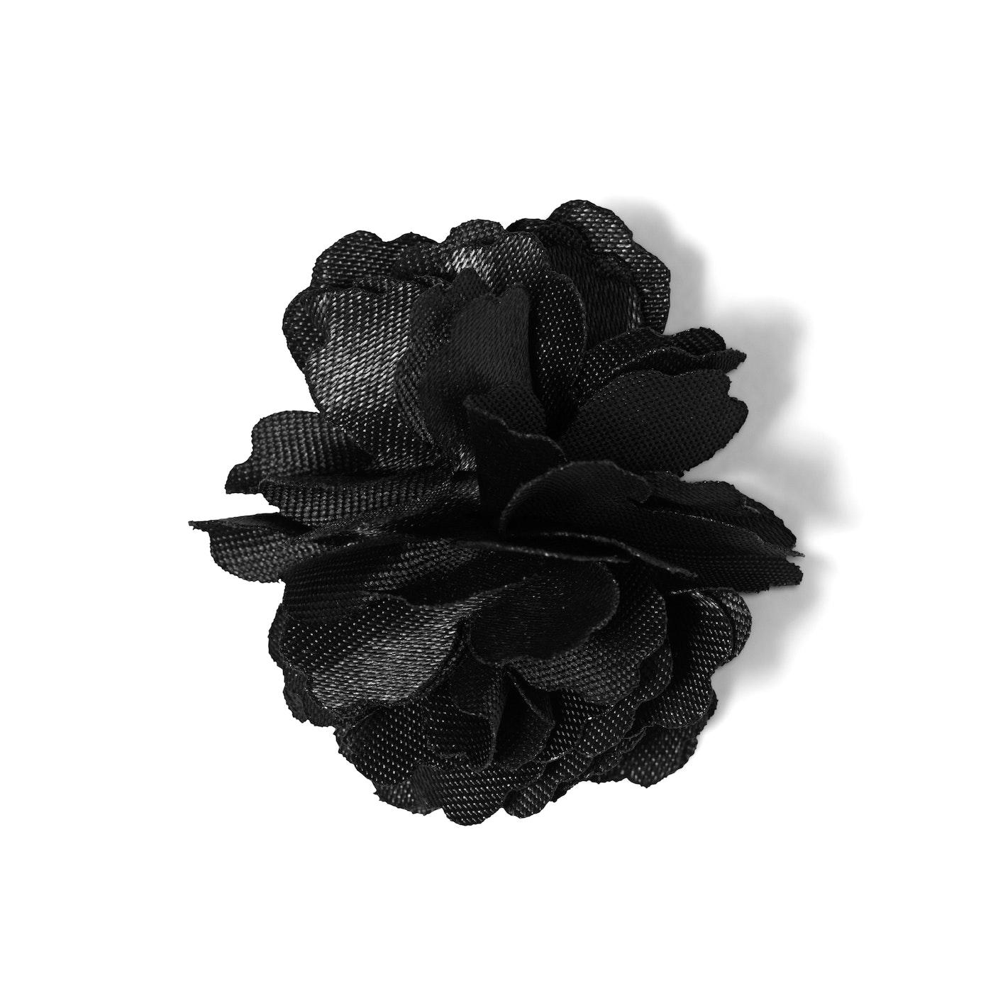 Black Carnation Lapel Pin