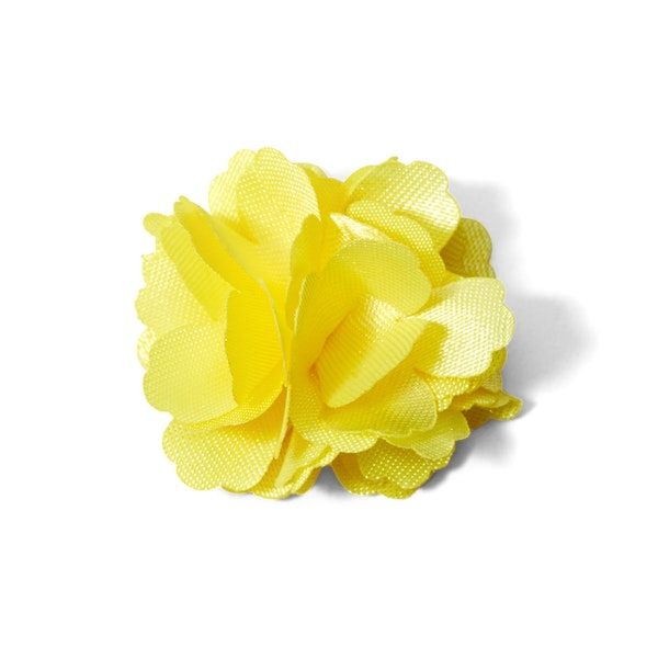 Canary Carnation Lapel Pin