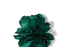 Emerald Carnation Lapel Pin