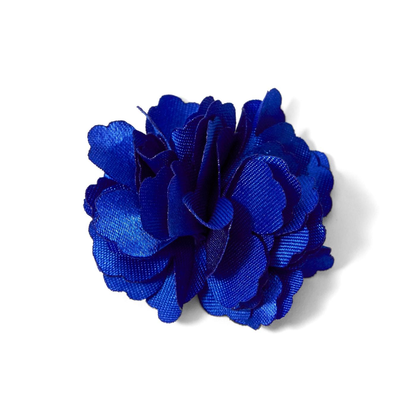 Royal Blue Carnation Lapel Pin