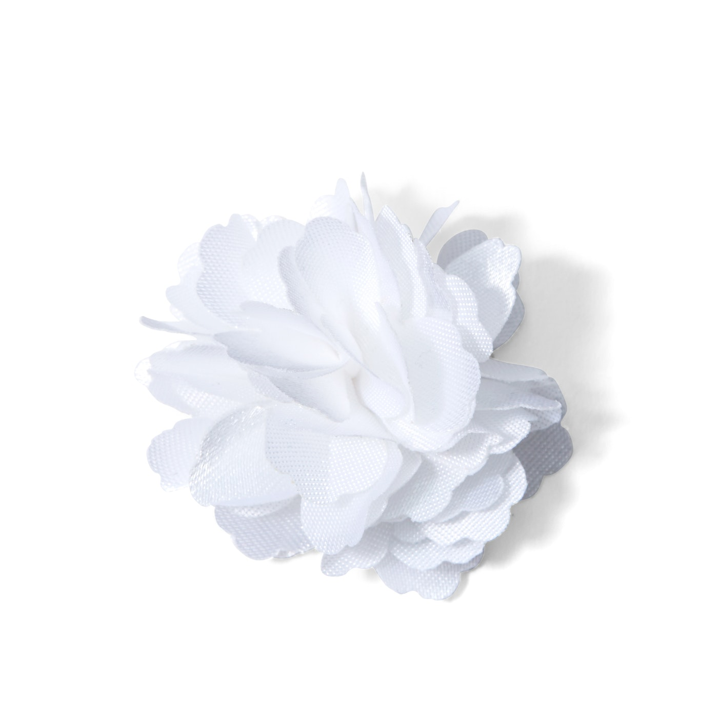 White Carnation Lapel Pin