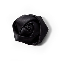 Black Rose Lapel Pin