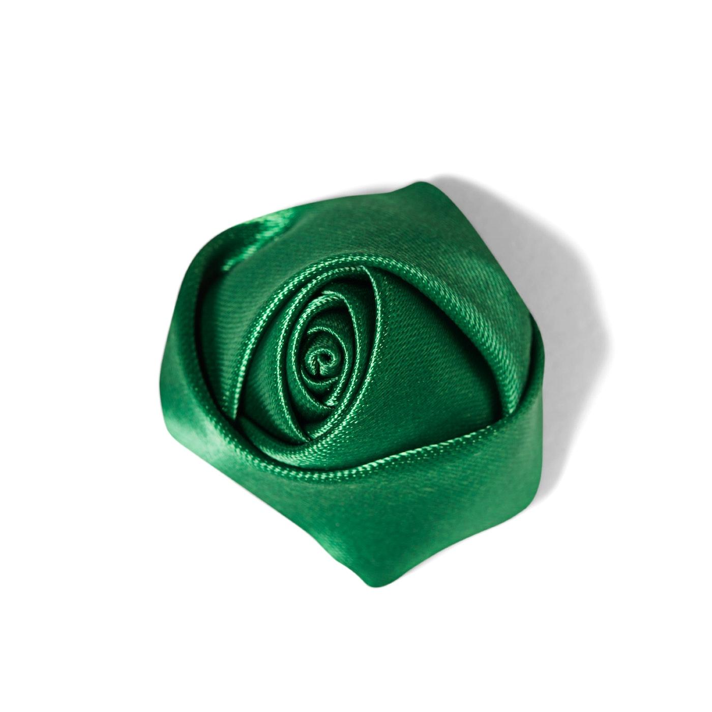 Emerald Rose Lapel Pin