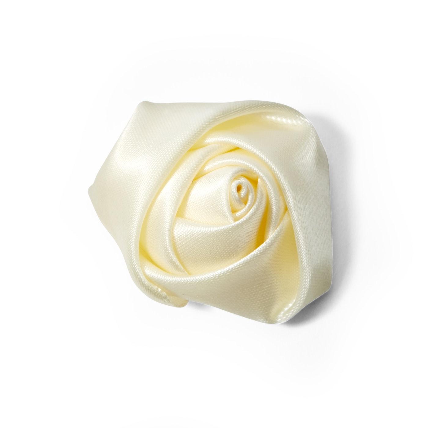 Ivory Rose Lapel Pin