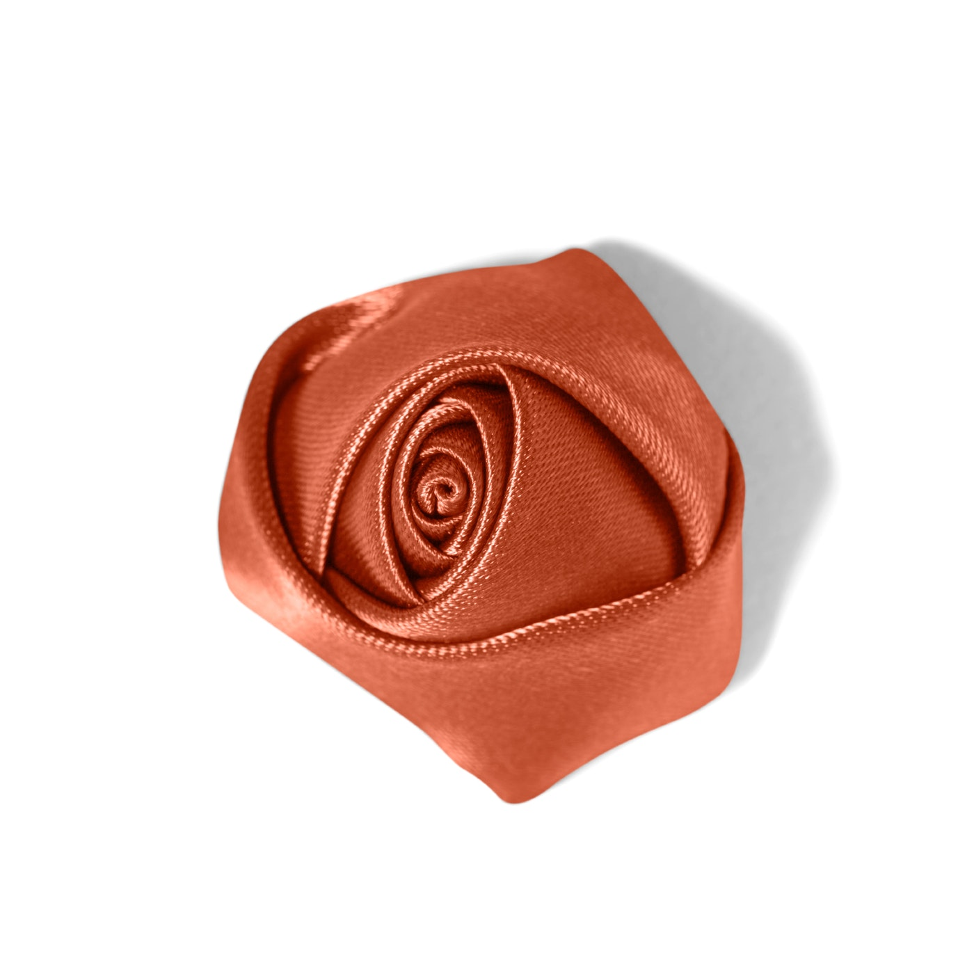 Dark Orange Rose Men's Lapel Pin