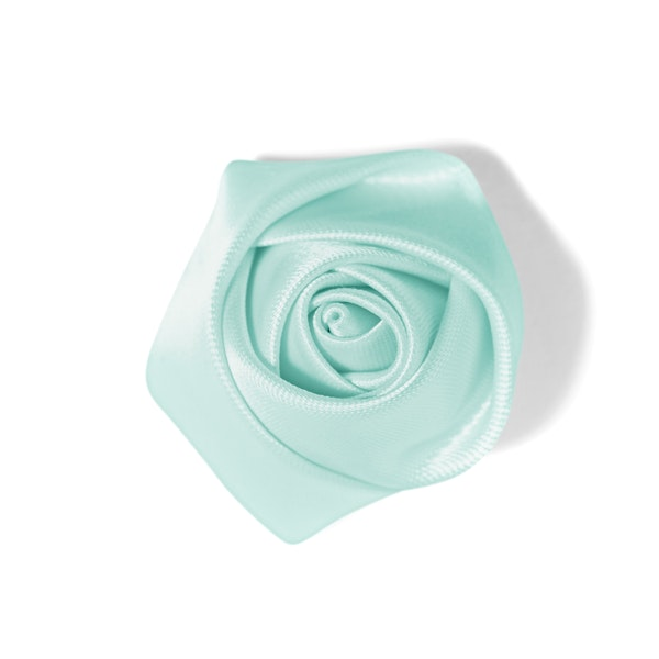 Men's Rose Lapel Pin: Mint