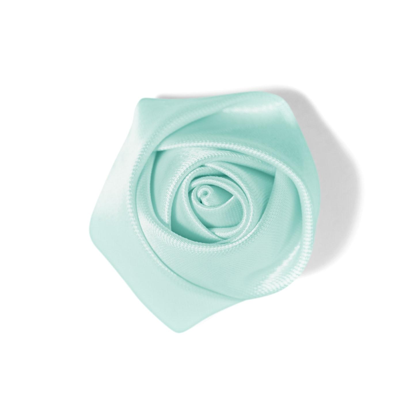 Men's Rose Lapel Pin: Mint