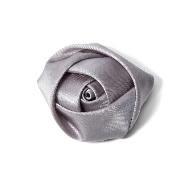 Platinum Rose Lapel Pin