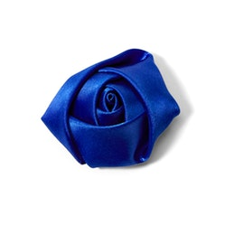 Royal Blue Rose Lapel Pin
