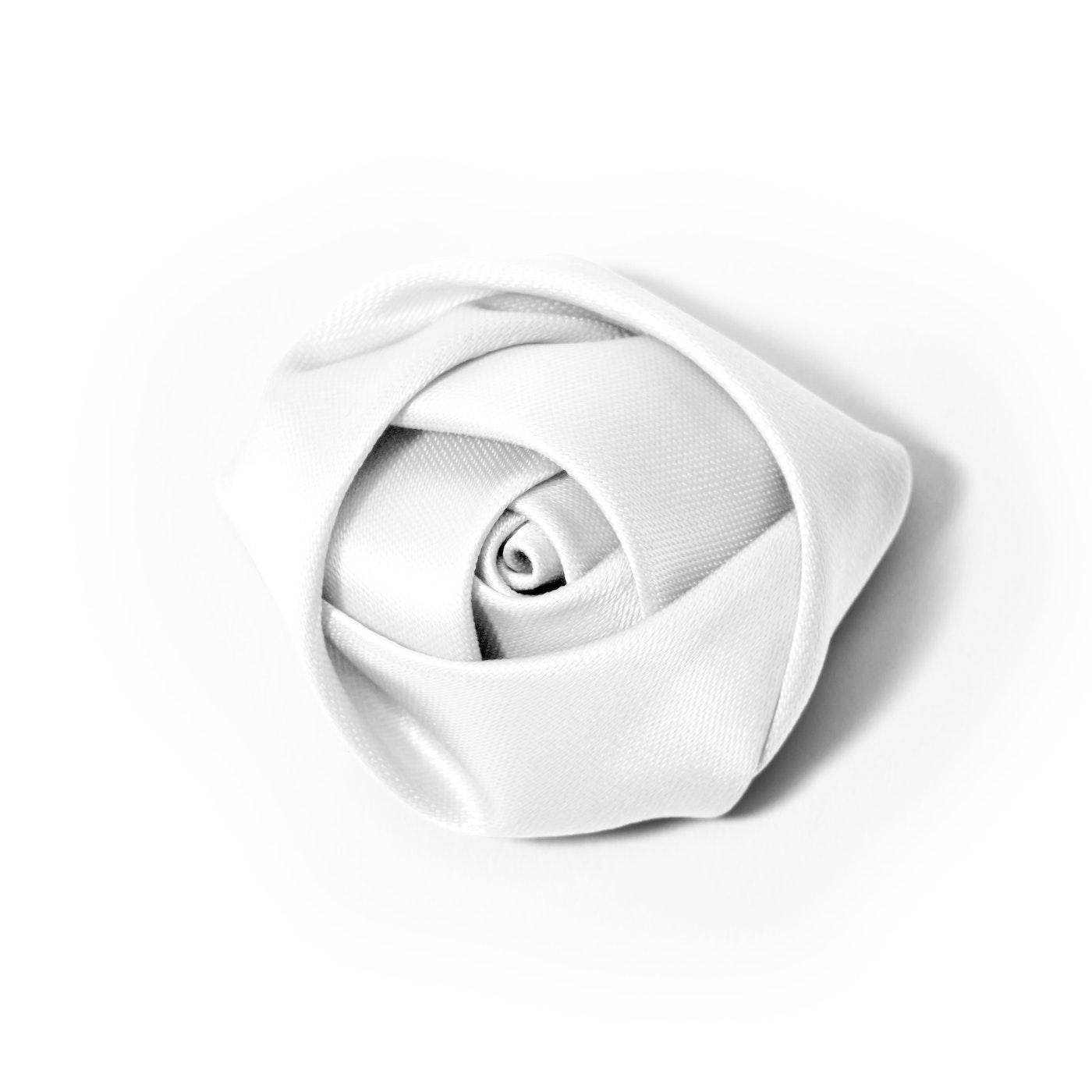 White Rose Lapel Pin