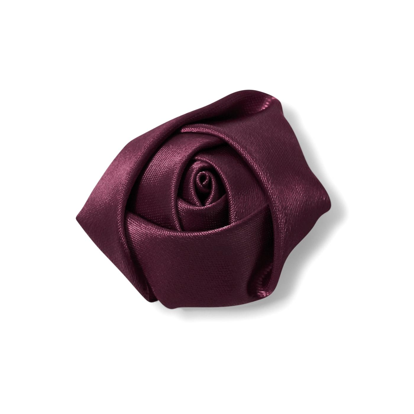 Wine Rose Lapel Pin