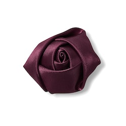Wine Rose Lapel Pin