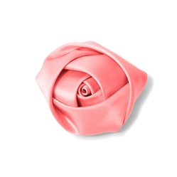 Coral Rose Lapel Pin