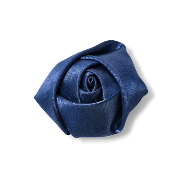 Dark Navy Rose Lapel Pin