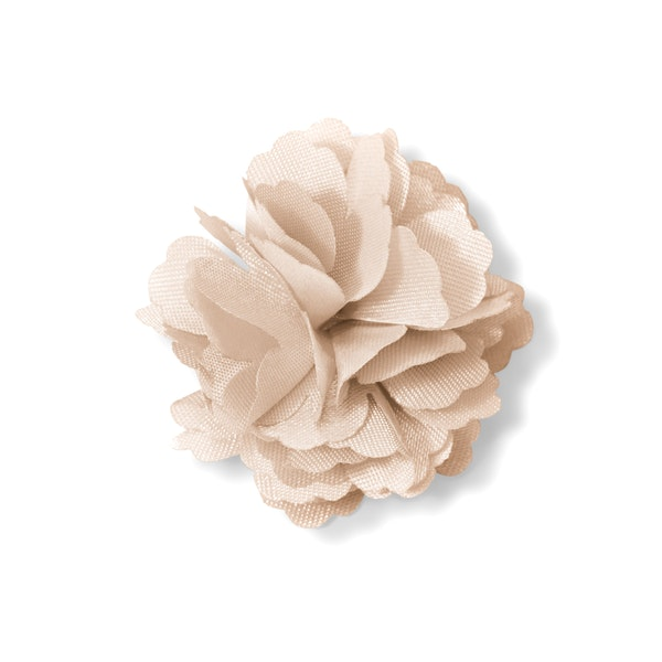 Champagne Carnation Lapel Pin