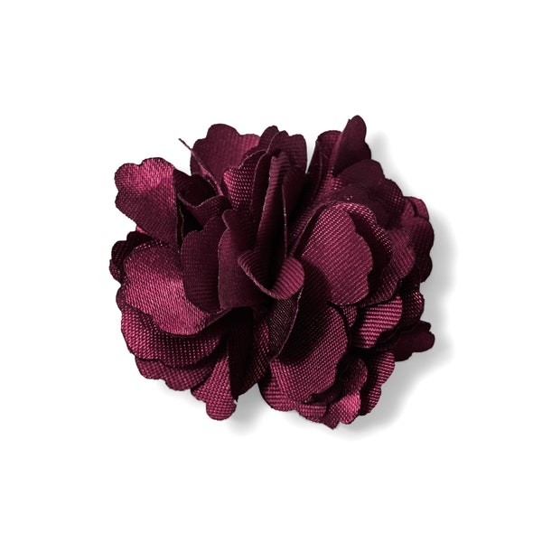 Sangria Carnation Lapel Pin