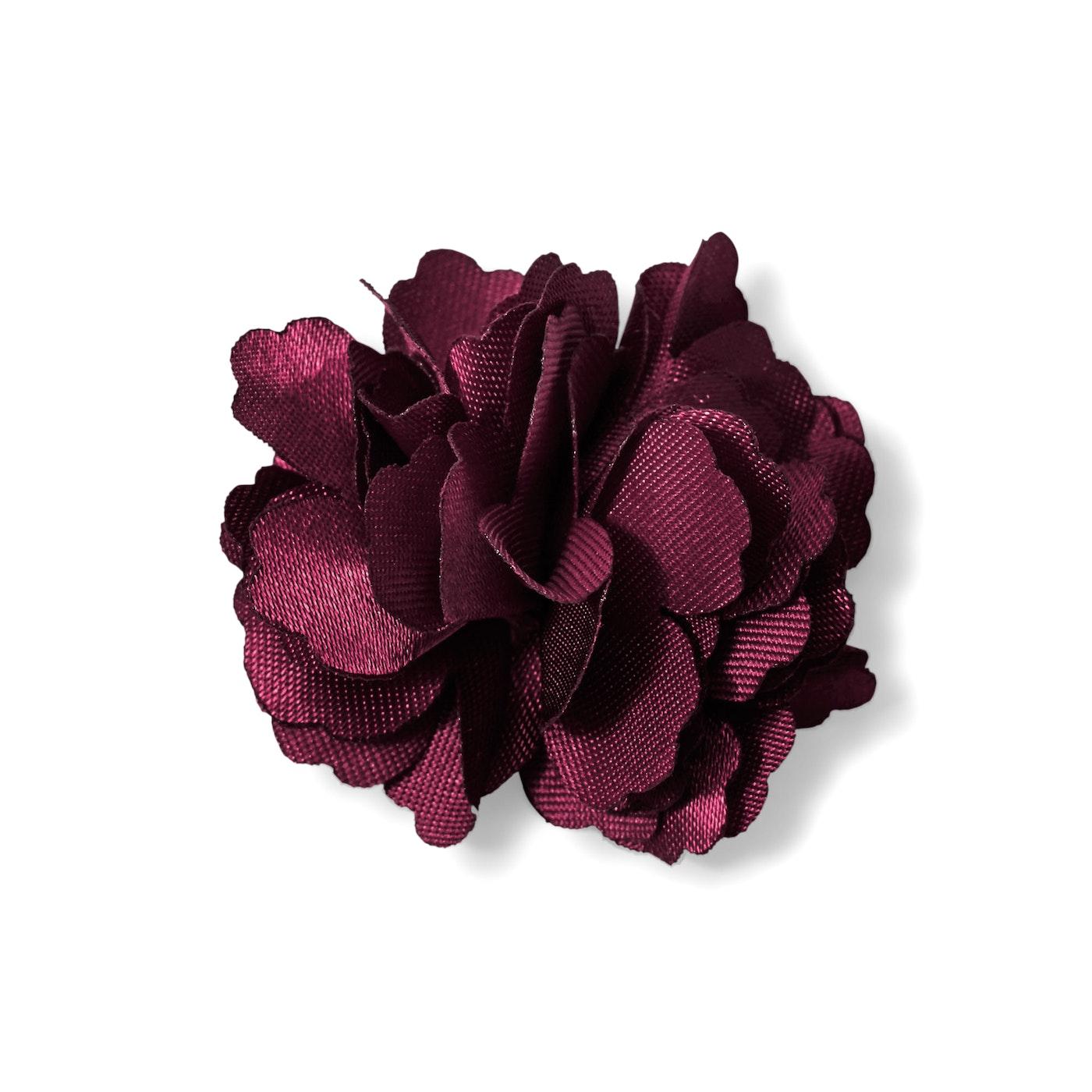 Wine Carnation Lapel Pin
