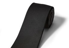 Black Satin Self Tie