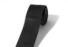 Skinny Black Satin Self Tie