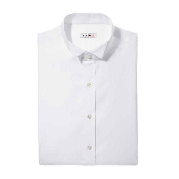 White Wingtip Collar Shirt