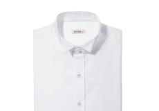 White Wingtip Collar Shirt